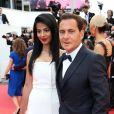 """Eric Besson et sa femme Jamila lors de la projection du film """"La fille inconnue"""" lors du 69e Festival de Cannes le 18 mai 2016. © Borde-Jacovides-Moreau/Bestimage"""
