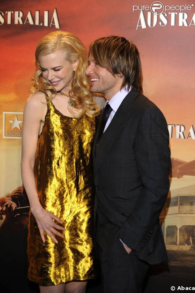Keith Urban et Nicole Kidman à la première du film  Australia  à Madrid en décembre 2008