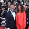 """Anne-Valérie Payet et son frère Manu Payet - Montée des marches du film """"Everybody Knows"""" lors de la cérémonie d'ouverture du 71ème Festival International du Film de Cannes. Le 8 mai 2018 © Borde-Jacovides-Moreau/Bestimage"""