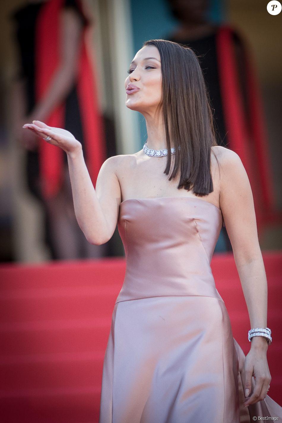 """Bella Hadid (Robe Dior) - Montée des marches du film """" Les Eternels """" lors du 71ème Festival International du Film de Cannes. Le 11 mai 2018 © Borde-Jacovides-Moreau/Bestimage"""