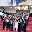 Cate Blanchett et les 82 femmes représentant les 82 femmes réalisatrices ayant été sélectionnées au festival de Cannes depuis sa première édition en 1947, dont Clotilde Courau, Leïla Bekhti, Clémence Poesy, Sofia Boutella, Salma Hayek, Claudia Cardinale, Cécile Cassel, Anna Mouglalis, Alba Rohrwacher, Lolita Chammah, Melita Toscan du Plantier, Tonie Marshall, Ava Duvernay, Khadja Nin, Léa Seydoux, Kristen Stewart - Montée des marches du film «Les Filles du Soleil» lors du 71ème Festival International du Film de Cannes. Le 12 mai 2018 © Borde-Jacovides-Moreau/Bestimage
