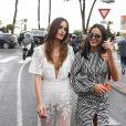 Izabel Goulart et Bruna Marquezine sur la Croisette lors du 71ème Festival International de Cannes le 13 mai 2018.