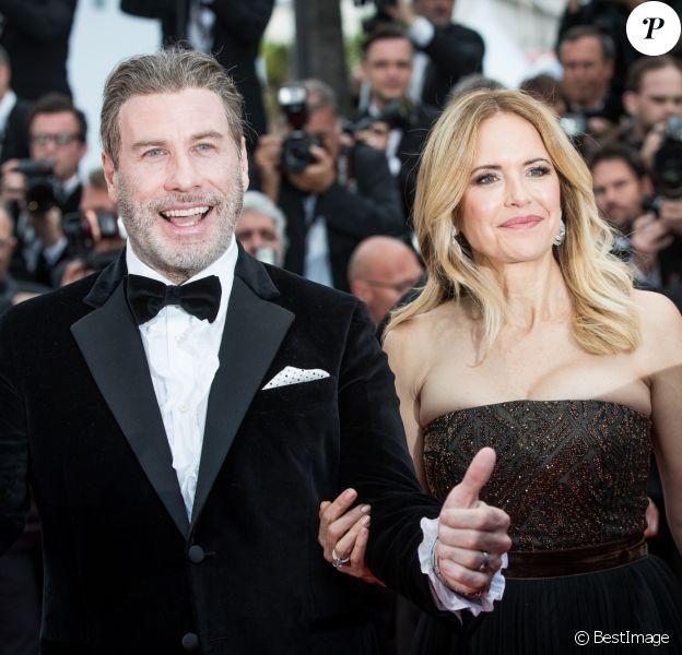 John Travolta et sa femme Kelly Preston - Montée des marches du film «Solo : A Star Wars Story» lors du 71ème Festival International du Film de Cannes. Le 15 mai 2018 © Borde-Jacovides-Moreau/Bestimage