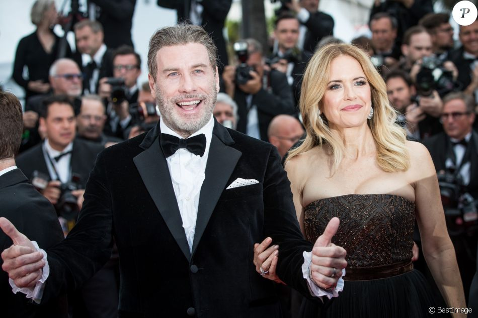 John Travolta et sa femme Kelly Preston - Montée des marches du film « Solo : A Star Wars Story » lors du 71ème Festival International du Film de Cannes. Le 15 mai 2018 © Borde-Jacovides-Moreau/Bestimage