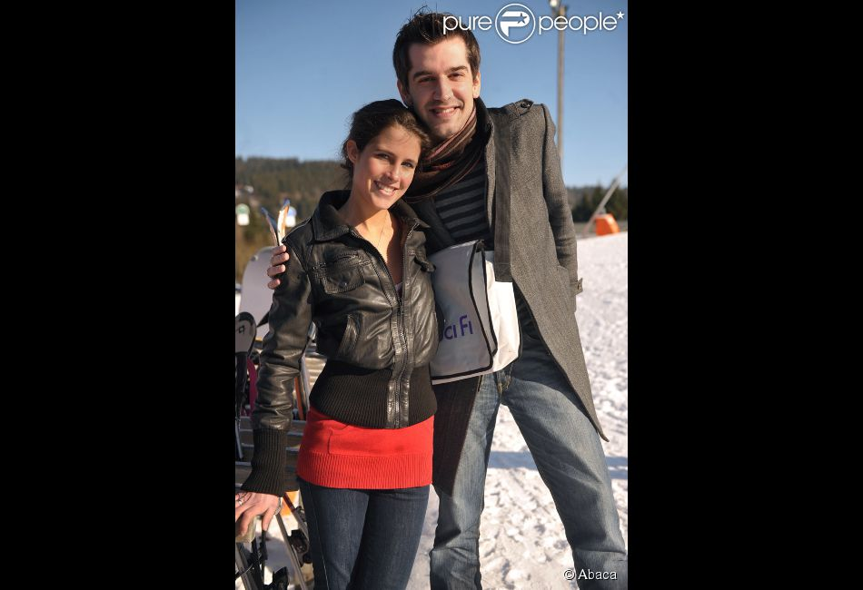 Mathieu Johann et Clémence Castel en janvier 2009