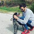 Laurent Kerusoré sauve un chien - Instagram, 11 mars 2018