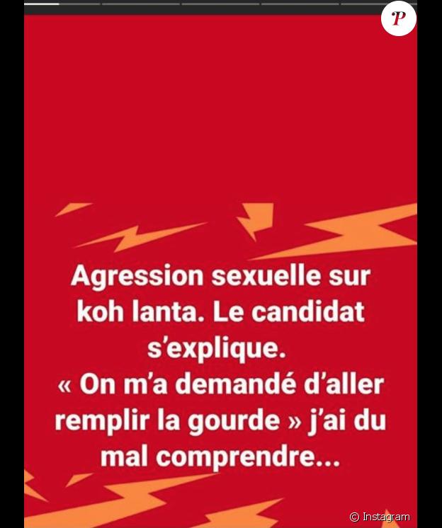 """La blague très osée de Pascal (Koh-Lanta) sur l'affaire de l'agression sexuelle du """"Koh-Lanta"""" annulé. Le 15 mai 2018."""