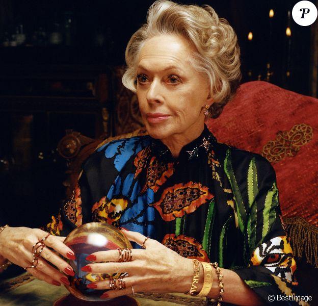 Tippi Hedren est la star de la nouvelle campagne publicitaire montres et bijoux de Gucci.