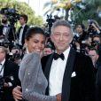 Vincent Cassel et sa fiancée Tina Kunakey - Montée des marches du film «Les Filles du Soleil» lors du 71ème Festival International du Film de Cannes. Le 12 mai 2018 © Borde-Jacovides-Moreau/Bestimage