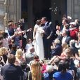 Jean Dujardin et Nathalie Péchalat se sont mariés à Saint-Cloud samedi 19 mai 2018