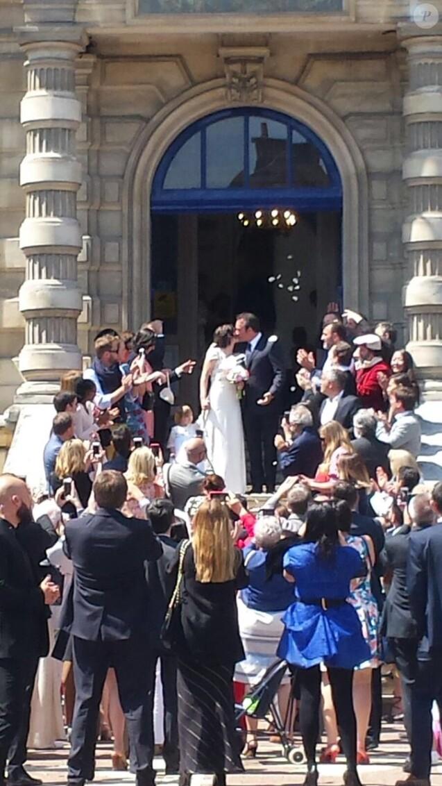 Jean dujardin et nathalie p chalat ils se sont mari s for Nathalie jean dujardin