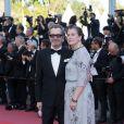 Gary Oldman et sa femme Gisele Schmidt - Montée des marches du film «L'Homme qui tua Don Quichotte» lors de la cérémonie de clôture du 71ème Festival International du Film de Cannes. Le 19 mai 2018 © Borde-Jacovides-Moreau / Bestimage