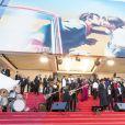 Sting et le rappeur Shaggy en concert sur les marches lors de la cérémonie de clôture du 71ème Festival International du Film de Cannes. Le 19 mai 2018 © Borde-Jacovides-Moreau / Bestimage  Sting and Shaggy performed on the recarpet for the closing ceremony of the 71th Cannes International Film Festival. On may 19th 201819/05/2018 - Cannes