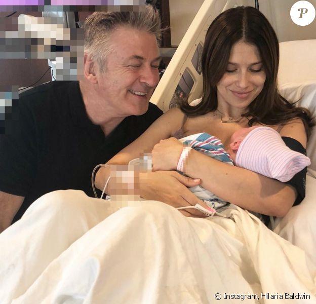 Alec, Hilaria Baldwin et leur fils. Mai 2018.