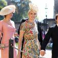 James Blunt et Sofia Wellesley (boucles d'oreilles Cartier) - Les invités arrivent à la chapelle St. George pour le mariage du prince Harry et de Meghan Markle au château de Windsor, Royaume Uni, le 19 mai 2018.