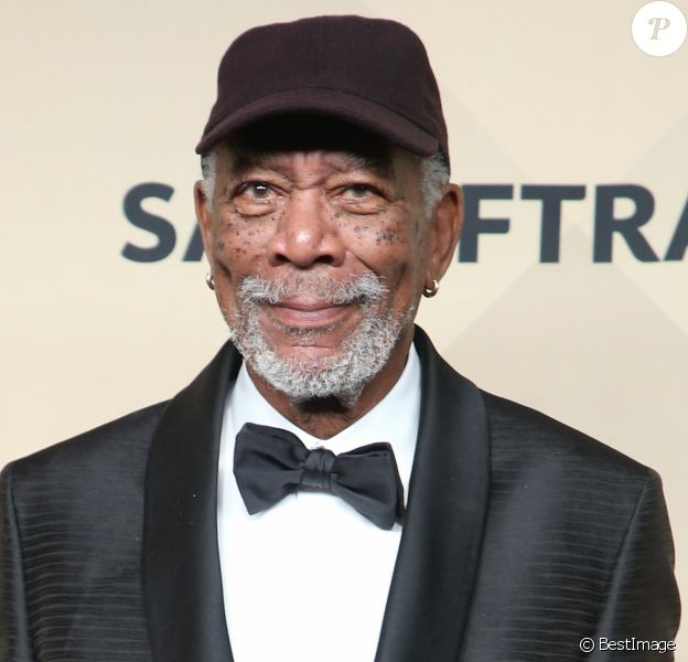 Morgan Freeman à la remise de prix des acteurs Guild awards à l'Auditorium Shrine à Los Angeles, le 21 janvier 2018.