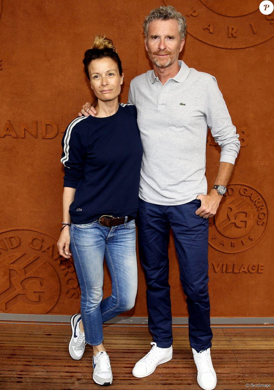 Denis Brogniart et sa femme Hortense au village lors des internationaux de France de tennis de Roland Garros, Jour 3, à Paris le 29 mai 2018. © Dominique Jacovides / Cyril Moreau / Bestimage