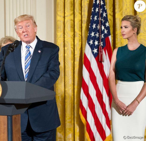 Donald Trump et sa fille Ivanka Trump - Le président Donald J. Trump et le secrétaire général John Kelly lors d'une conférence de presse à la Maison Blanche à Washington DC, le 1er août 2017.