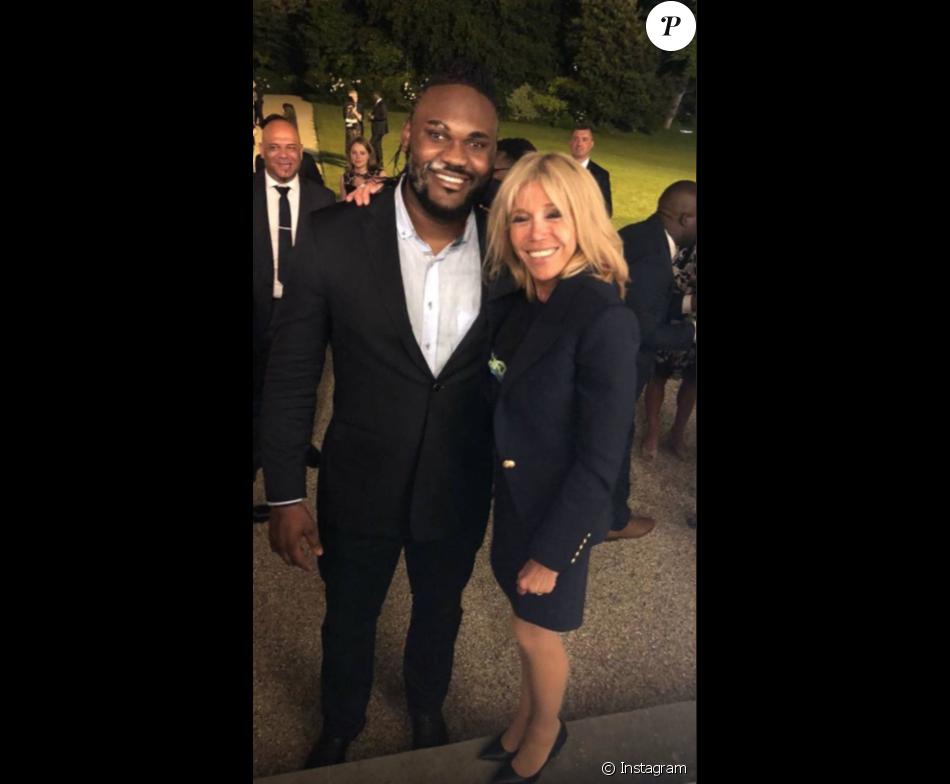 Makao à l'Elysée, le 4 juin 2018. Ici avec Brigitte Macron.