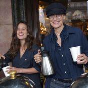 Lucie Lucas et Ines de la Fressange : Grand sourire dès le petit déjeuner !