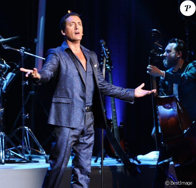 """Exclusif - Concert du chanteur Dany Brillant , """"Rock and Swing Tour"""", à la salle Pleyel à Paris, France, le 2 juin 2018. © Guillaume Gaffiot/Bestimage ("""