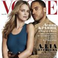 Lenny Kravitz pour Vogue avec le top Carmen Kaas