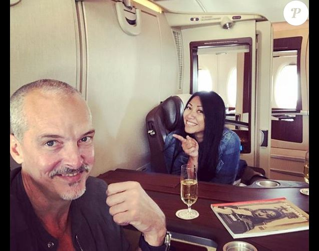 Anggun et son compagnon Christian Kretschmar se rendent à Bali. Instagram, juin 2018.