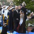 La princesse Victoria, la reine Silvia, le roi Carl Gustav de Suède - La famille royale de Suède assiste à la fête nationale dans les jardins du musée Skansen à Stockholm le 6 juin 2018.  Sweden's National Day celebrations at Skansen, Stockholm, Sweden 2018-06-0606/06/2018 - Stockholm