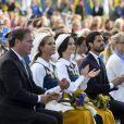 Christopher O'Neill, la princesse Madeleine, la princesse Sofia, le prince Carl Philip - La famille royale de Suède assiste à la fête nationale dans les jardins du musée Skansen à Stockholm le 6 juin 2018.  Sweden's National Day celebrations at Skansen, Stockholm, Sweden 2018-06-0606/06/2018 - Stockholm