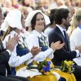 Christopher O'Neill, la princesse Madeleine, la princesse Sofia, le prince Carl Gustav de Suède - La famille royale de Suède assiste à la fête nationale dans les jardins du musée Skansen à Stockholm le 6 juin 2018.  Sweden's National Day celebrations at Skansen, Stockholm, Sweden 2018-06-0606/06/2018 - Stockholm