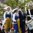 La princesse Madeleine, la princesse Sofia, Christopher O'Neill, le prince Carl Philip de Suède - La famille royale de Suède assiste à la fête nationale dans les jardins du musée Skansen à Stockholm le 6 juin 2018.  Sweden's National Day celebrations at Skansen, Stockholm, Sweden 2018-06-0606/06/2018 - Stockholm