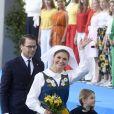 Le prince Daniel, la princesse Victoria de Suède, la princesse Estelle - La famille royale de Suède assiste à la fête nationale dans les jardins du musée Skansen à Stockholm le 6 juin 2018.  Sweden's National Day celebrations at Skansen, Stockholm, Sweden 2018-06-0606/06/2018 - Stockholm
