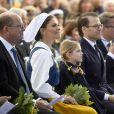 Urban Ahlin, la princesse Victoria de Suède, la princesse Estelle, le prince Daniel - La famille royale de Suède assiste à la fête nationale dans les jardins du musée Skansen à Stockholm le 6 juin 2018.  Sweden's National Day celebrations at Skansen, Stockholm, Sweden 2018-06-0606/06/2018 - Stockholm