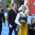 Le prince Carl Philip, le prince Daniel, la princesse Victoria de Suède, la princesse Estelle - La famille royale de Suède assiste à la fête nationale dans les jardins du musée Skansen à Stockholm le 6 juin 2018.  Sweden's National Day celebrations at Skansen, Stockholm, Sweden 2018-06-0606/06/2018 - Stockholm