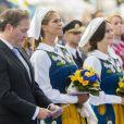 La famille royale de Suède - ici, la princesse Madeleine avec son mari Christopher O'Neill - a célébré le 6 juin 2018 la Fête nationale.