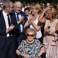 Inauguration de l'avenue Jacques et Bernadette Chirac à Brive-la-Gaillarde (Corrèze) le 8 juin 2018. L'épouse de l'ancien président de la Répubique, Bernardette Chirac, était présente à l'événement, notamment entourée d sa fille Claude.