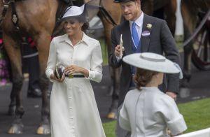 Meghan Markle radieuse en blanc pour son premier Royal Ascot