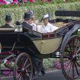 Meghan Markle, duchesse de Sussex - La famille royale d'Angleterre à son arrivée à Ascot pour les courses hippiques. Le 19 juin 2018