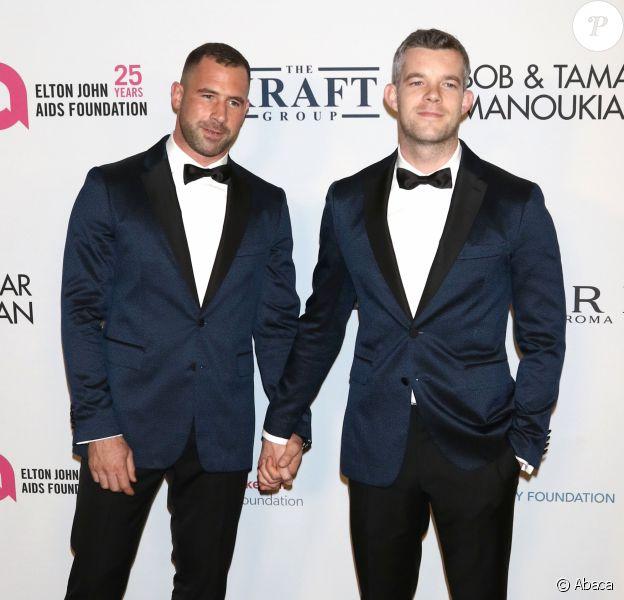 Russell Tovey et son chéri Steve Brockman à la soirée EJAF's An Enduring Vision Gala à New York, en 2017.