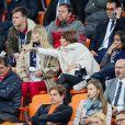 Nagui, sa femme Mélanie Page, Claude Deschamps, Leïla Kaddour-Boudadi, Bruno Solo lors du match de coupe du monde opposant la France au Pérou au stade Ekaterinburg à Yekaterinburg, Russie, le 21 juin 2018. La France a gagné 1-0. © Cyril Moreau/Bestimage