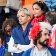 Isabelle Matuidi lors du match de coupe du monde opposant la France au Pérou au stade Ekaterinburg à Yekaterinburg, Russie, le 21 juin 2018. La France a gagné 1-0. © Cyril Moreau/Bestimage