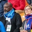 Fidèle Nzonzi (père de Steven Nzonzi) et son épouse lors du match de coupe du monde opposant la France au Pérou au stade Ekaterinburg à Yekaterinburg, Russie, le 21 juin 2018. La France a gagné 1-0. © Cyril Moreau/Bestimage