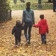 "Clémence Castel de ""Koh-Lanta All Stars"" et ses fils, Instagram, novembre 2017"