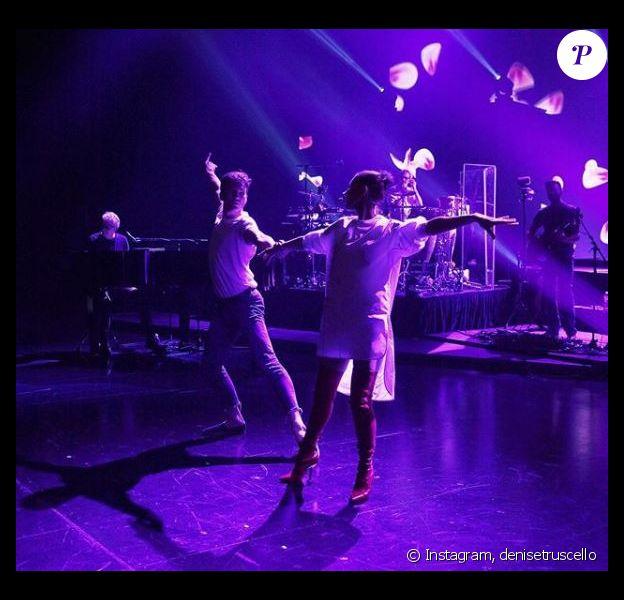 Céline Dion et Pepe Munoz répétent la tournée de la star. Instagram, le 23 juin 2018