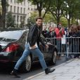 Exclusif - Céline Dion et son danseur Pepe Munoz sont allés déjeuner au restaurant italien Paparazzi au square de l'Opéra-Louis Jouvet et sont ensuite allés faire du shopping chez Dior avenue Montaigne et chez Balmain rue François 1er avant de revenir à l'hôtel Royal Monceau à Paris, France, le 8 août 2017.