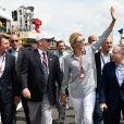 Christian Estrosi (le maire de Nice et vice-président du Conseil Régional de PACA), le prince Albert II de Monaco, la princesse Charlène de Monaco et Jean Todt durant le Grand Prix de France au Castellet le 24 juin 2018. C. Estrosi, le maire de Nice et le vice-président du Conseil Regional de PACA, est à l'origine du retour du Grand Prix de France au Circuit Paul Ricard. C'est L. Hamilton qui a remporté le Grand Prix devant M. Verstappen, second, et K. Raikkonen troisième. © Bruno Bebert / Bestimage