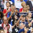Nagui et sa femme Mélanie Page - Célébrités dans les tribunes lors du match de coupe du monde opposant la France au Danemark au stade Loujniki à Moscou, Russia, le 26 juin 2018. Le match s'est terminé par un match nul 0-0. © Pierre Perusseau/Bestimage