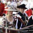 La comtesse Sophie de Wessex et le prince Edward, comte de Wessex lors du service de l'Ordre de la Jarretière au château de Windsor le 18 juin 2018