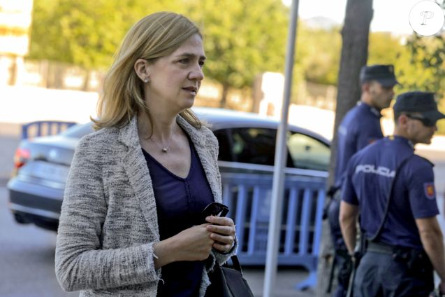 L'infante Cristina d'Espagne le 22 juin 2016 au tribunal de Palma de Majorque.