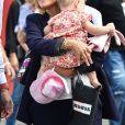 Laura Tenoudji (la femme de Christian Estrosi) et sa fille Bianca lors du Grand Prix de France de formule 1 sur le circuit du Castellet le 24 juin 2018. © Bruno Bebert / Bestimage